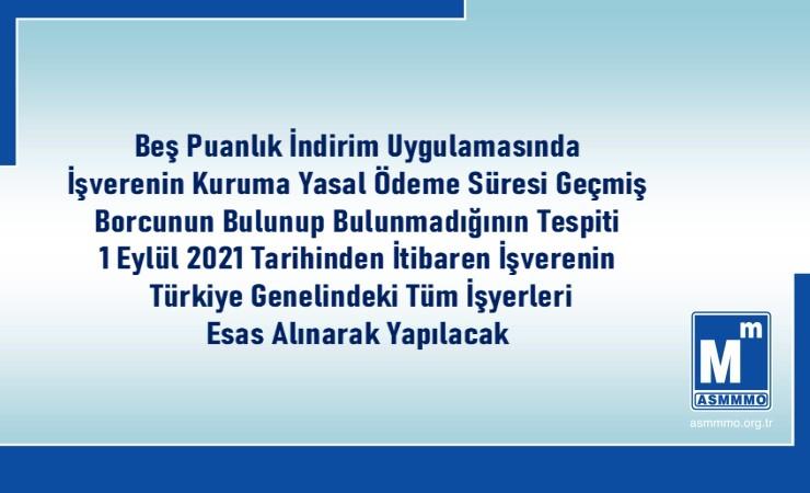 Beş Puanlık İndirimde Türkiye Geneli Borç Sorgusu