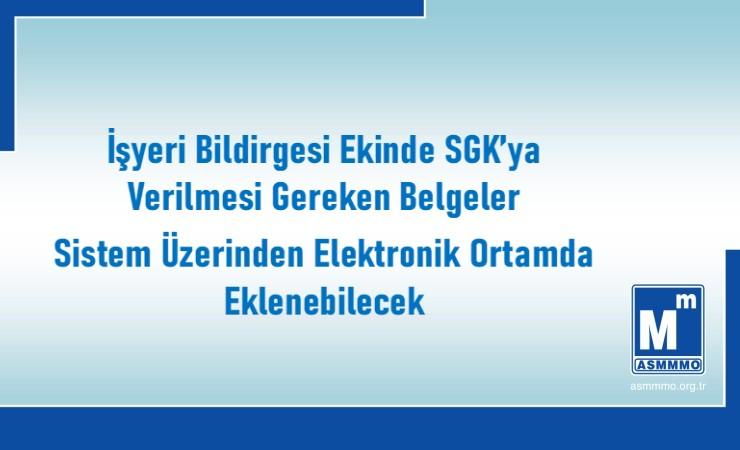 İşyeri Bildirgesi Ekinde SGK'ya Verilecek Belgeler