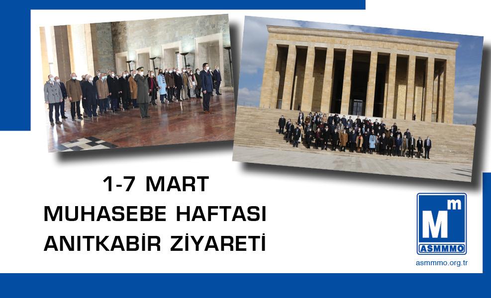 1-7 Mart Muhasebe Haftası Anıtkabir Ziyareti