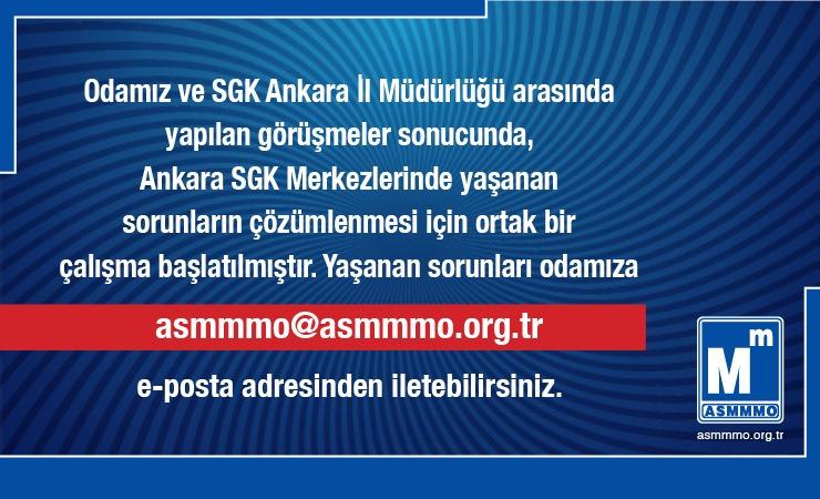 Sosyal Güvenlik Merkezi Ankara İl Müdürlüğü İle Ortak Çalışma
